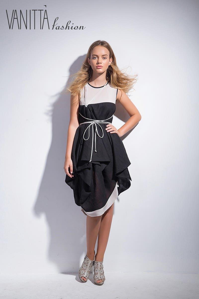 Asymmetrical women's dress SS1602