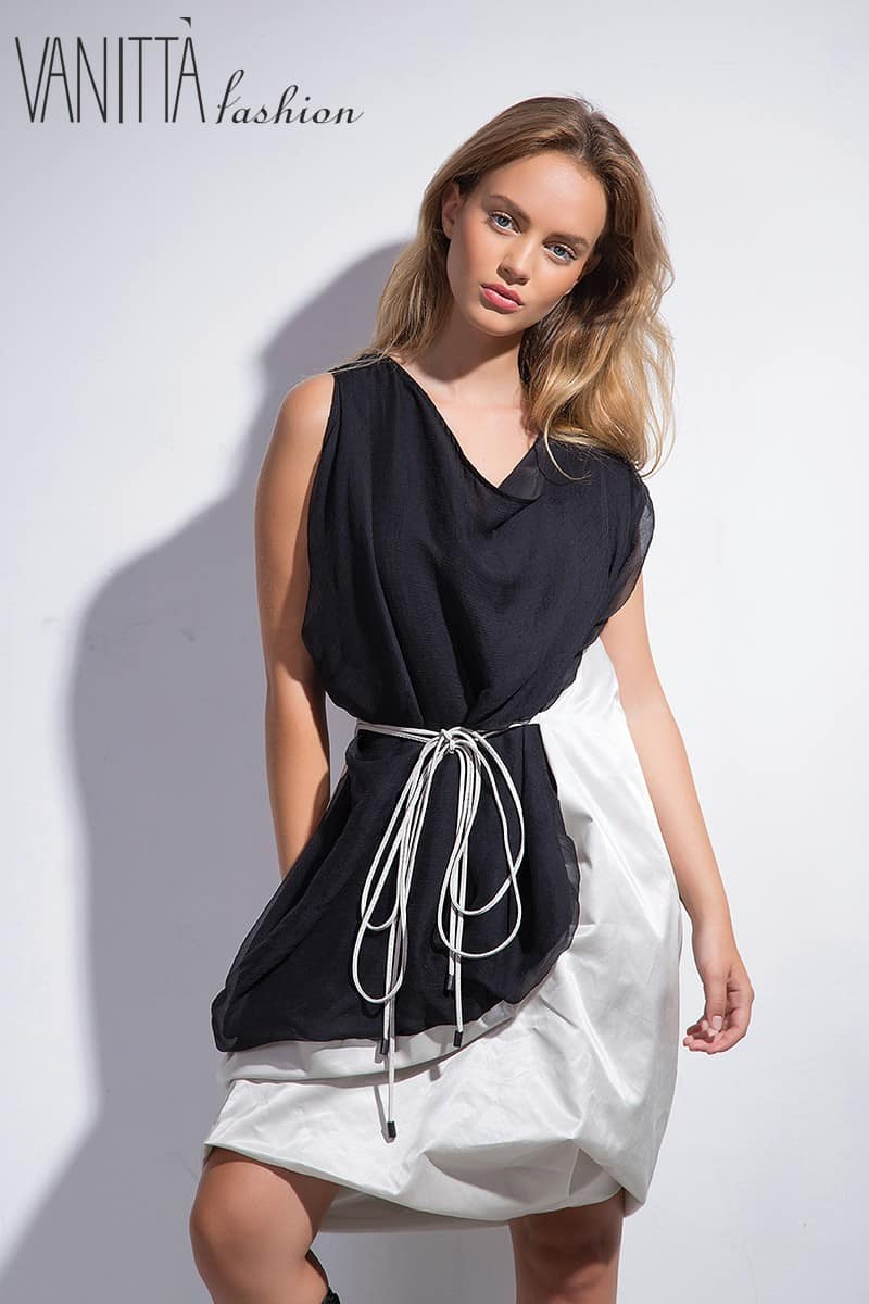 Asymmetrical women's dress SS1625