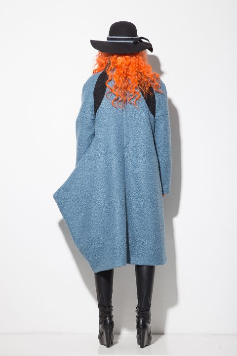 Асиметрично дамско палто 1141