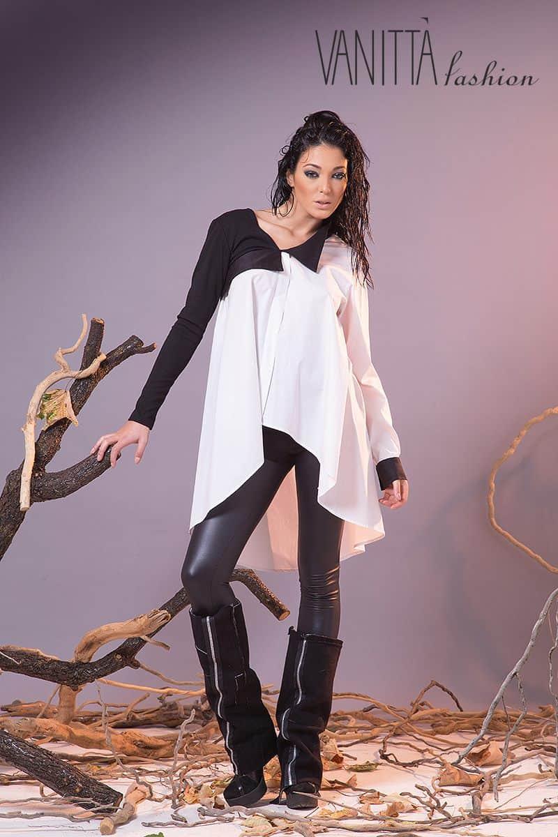 Асиметрична дамска блуза 1194