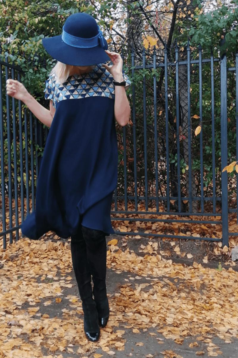 Свободна дамска рокля 1185