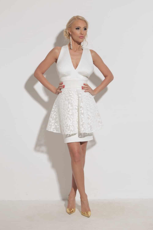 Елегантна дамска рокля 1201