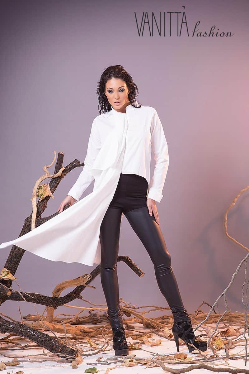 Асиметрична дамска риза 1202