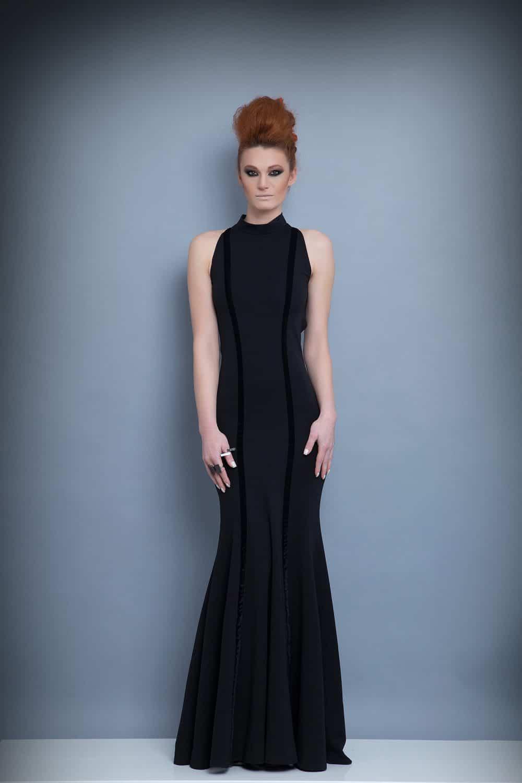 Дълга дамска рокля 1214