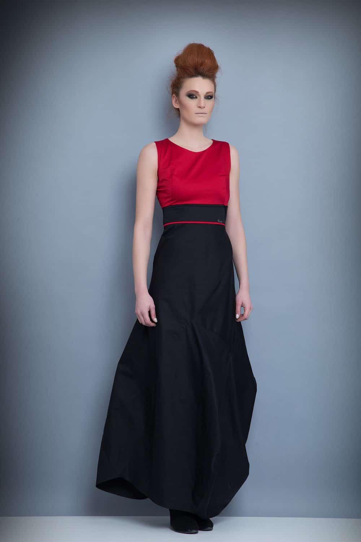 Дълга дамска рокля 1211